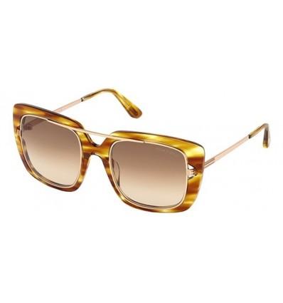 Gafas de Sol Tom Ford FT0619 MARISSA Striped Light Brown - Brown Shaded (47F F)