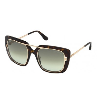 Gafas de Sol Tom Ford FT0619 MARISSA Dark Tortoise - Green Shaded (52P B)