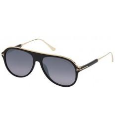 Gafas de Sol Tom Ford FT0624 NICHOLAI Shiny Black - Smoke Shaded (01C E)