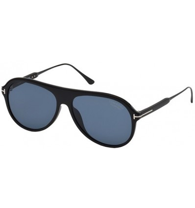 Gafas de Sol Tom Ford FT0624 NICHOLAI Matte Black - Blue (02D C)