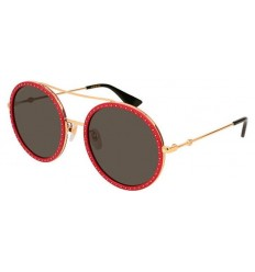 Gafas de Sol GUCCI GG0061S Gold Red Stones - Grey (018)