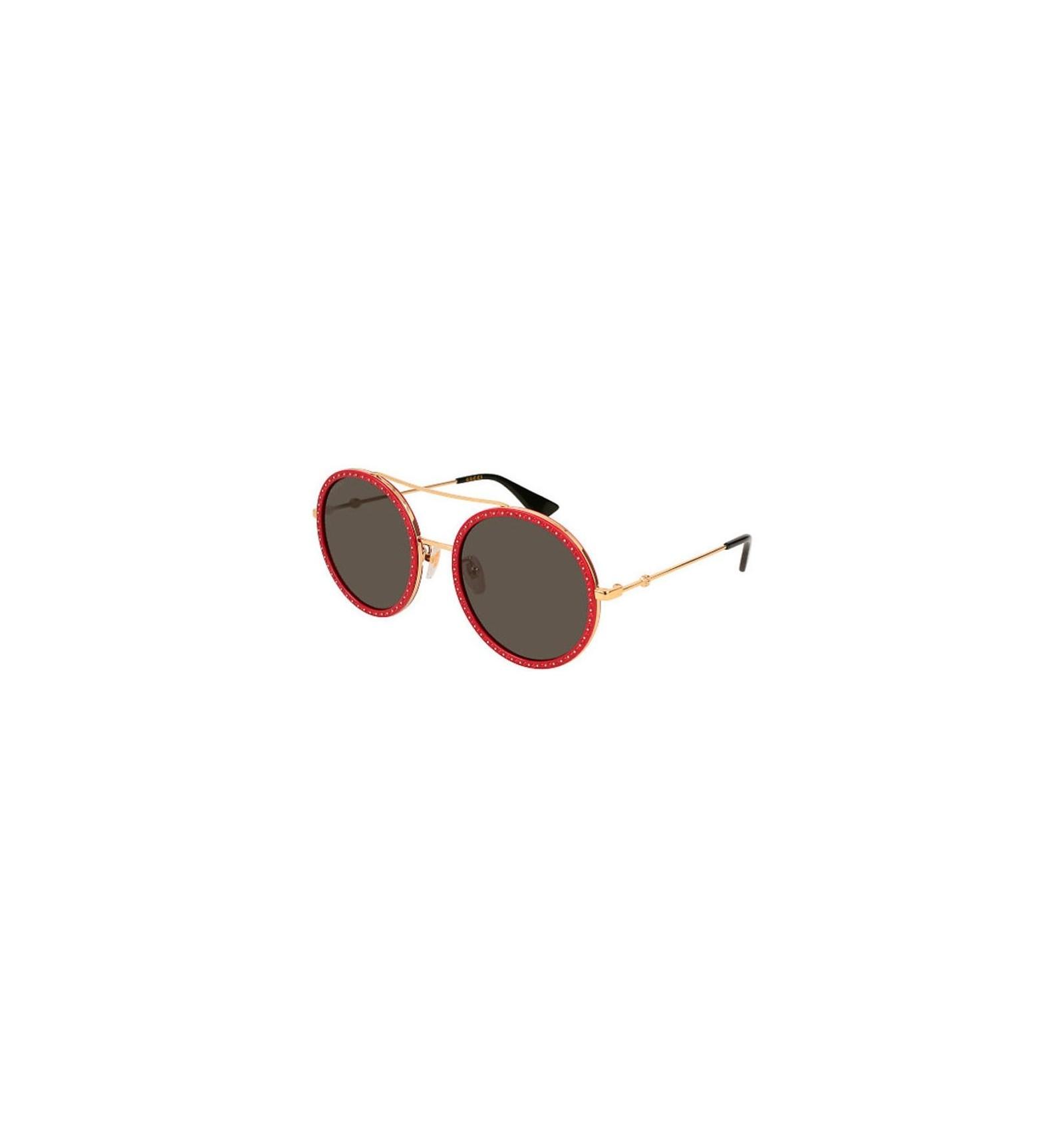 da8da4b4a6 Gafas de Sol GUCCI GG0061S Gold Red Stones - Grey. Envío Gratuito