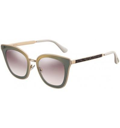 Gafas de sol JIMMY CHOO LORY Gold Green - Brown Shaded (YK9-NQ)