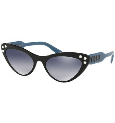 Gafas de sol MIU MIU SMU05T LOGOMANIA Black Blue - Blue Silver Shaded (1AB-3A0)