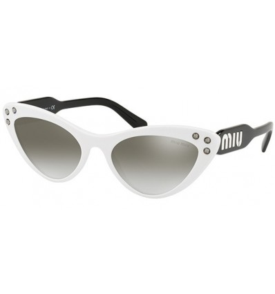 Gafas de sol MIU MIU SMU05T LOGOMANIA White Black - Grey Silver Shaded (4AO-5O0)
