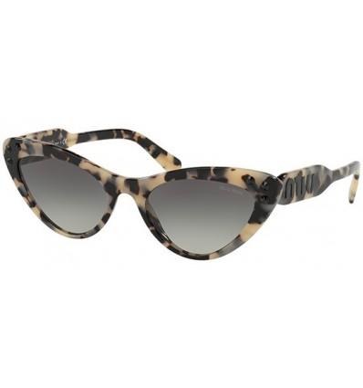 Gafas de sol MIU MIU SMU05T LOGOMANIA Beige Havana - Grey Shaded (KAD-3M1)