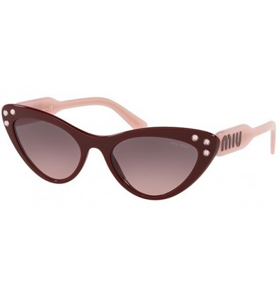 Gafas de sol MIU MIU SMU05T LOGOMANIA Burgundy Pink - Grey Pink Shaded (USH-146)