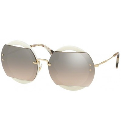 Gafas de sol MIU MIU SMU06S REVEAL EVOLUTION Ivory - Brown Shaded Silver (VAG-4P0)
