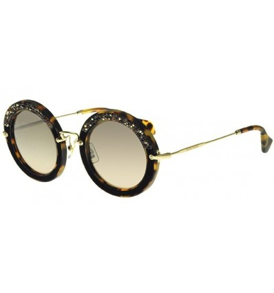 Gafas de sol MIU MIU SMU08R PAV STORY EVOLUTION Light Havana - Brown Shaded (7S0-4P0)