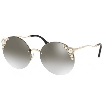Gafas de sol MIU MIU SMU52TS PEARL COLLECTION Pale Gold - Grey Silver Shaded (VW7-5O0)
