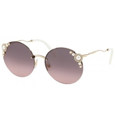 Gafas de sol MIU MIU SMU52TS PEARL COLLECTION Pale Gold - Pink Grey Shaded (VW7-146)