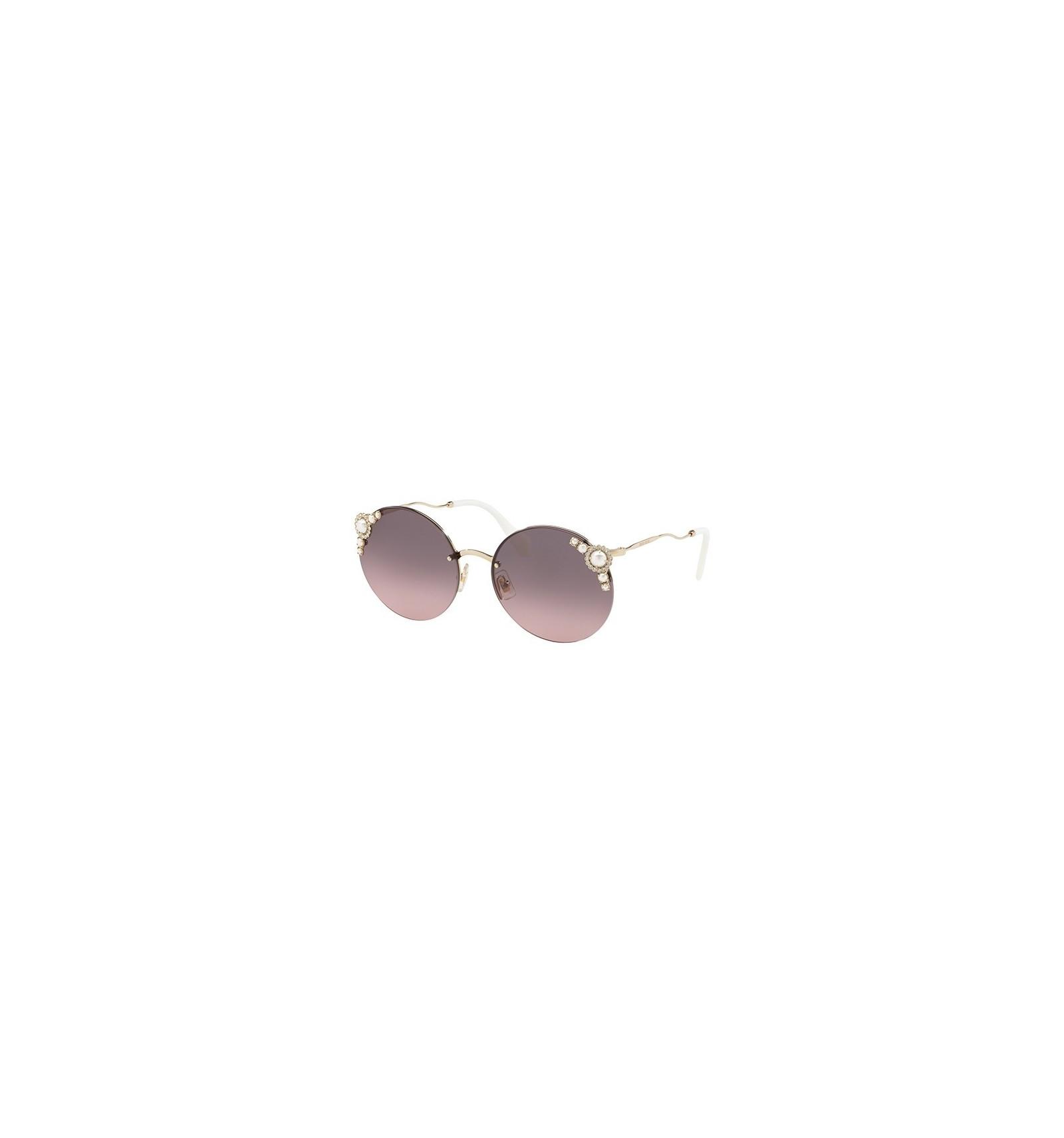588afde0a4568 Gafas de sol MIU MIU SMU52TS PEARL COLLECTION Pale Gold - Pink Grey Shaded ( VW7