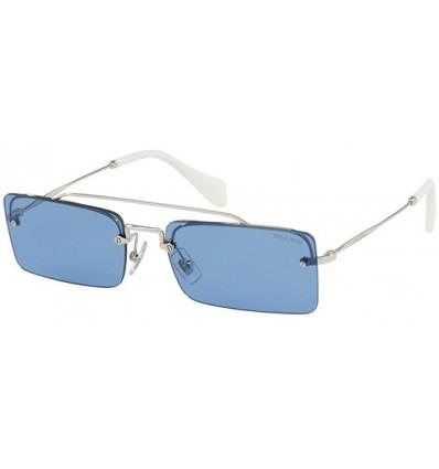 Gafas de sol MIU MIU SMU59T SOCIETE Silver - Light Blue (1BC-2J1)
