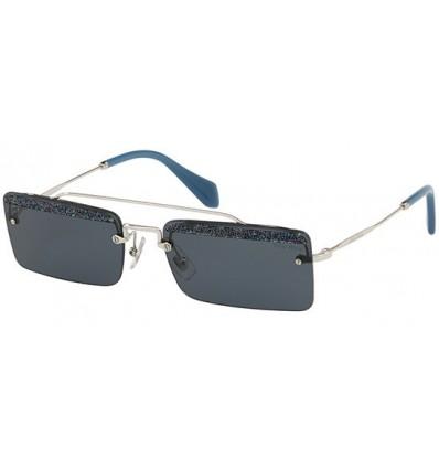 Gafas de sol MIU MIU SMU59T SOCIETE Silver - Grey Blue Glitter (KJT-2K1)