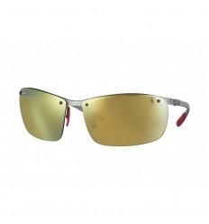 Gafas de sol RAY BAN Ferrari 8305M Gris - Oro Mirror Chromance (F0066B)