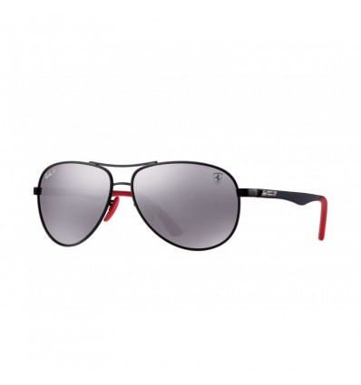 Gafas de sol RAY BAN Ferrari 8313M Negro - Plata Mirror Chromance (F002H2)