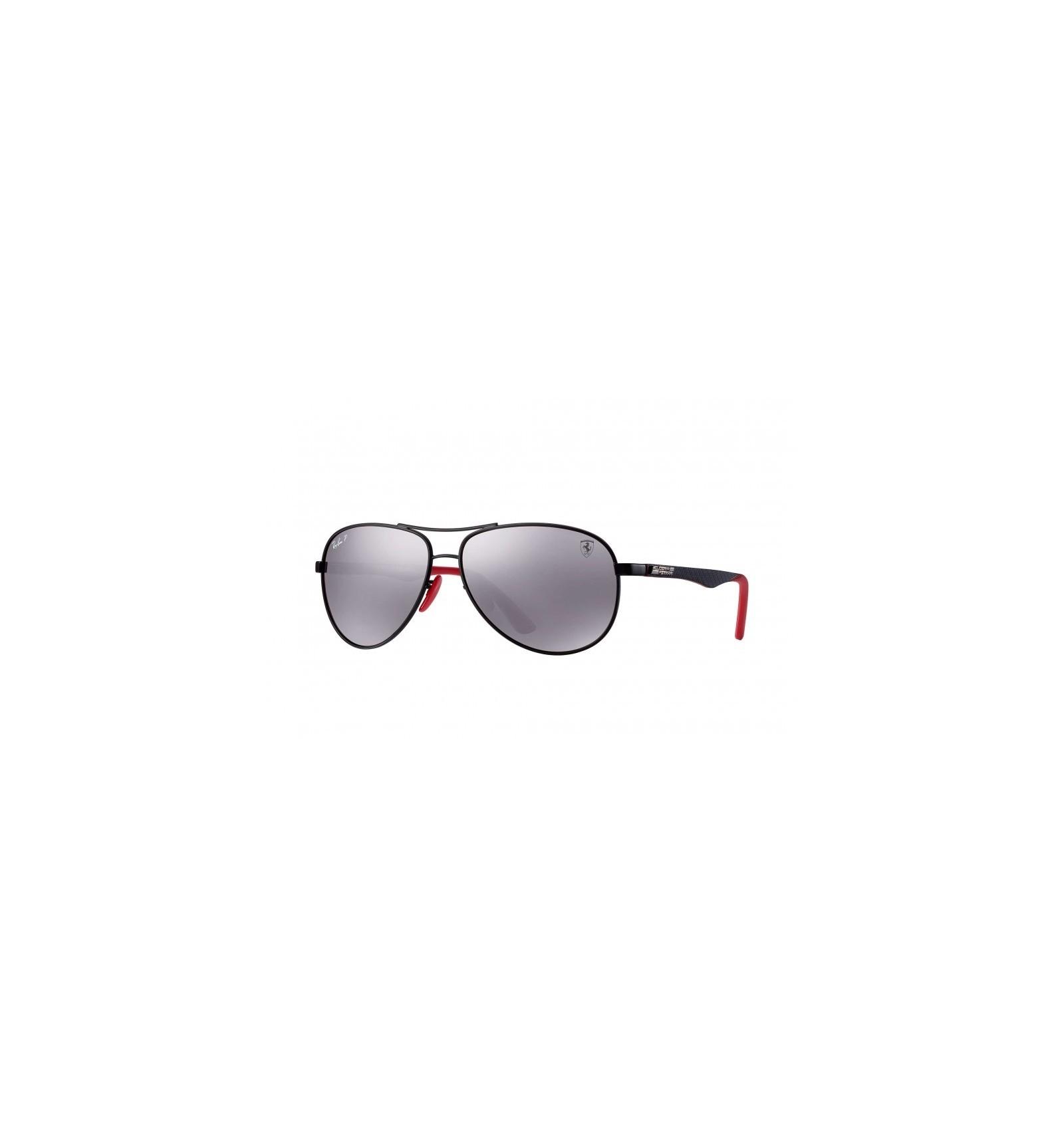 689069d75a460 Gafas de sol RAY BAN Ferrari 8313M Negro - Plata Mirror Chromance (F002H2)