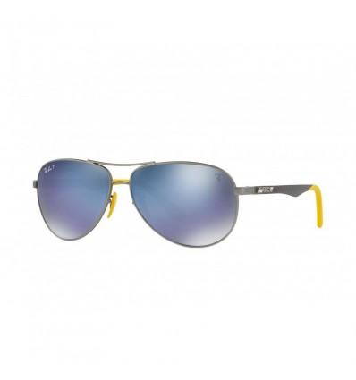 Gafas de sol RAY BAN Ferrari 8313M Gunmetal Negro - Azul Mirror Chromance (F003H0)