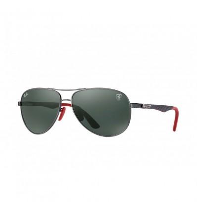 Gafas de sol RAY BAN Ferrari 8313M Gunmetal Negro - Verde Clásico (F00171)