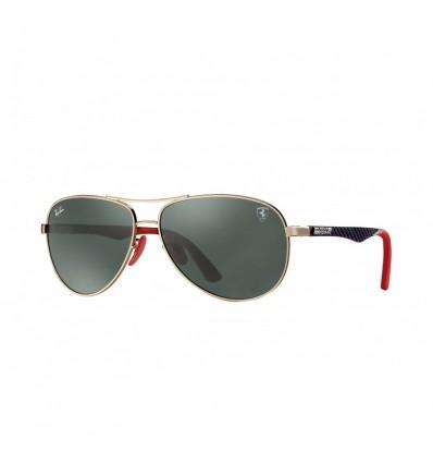 Gafas de sol RAY BAN Ferrari 8313M Oro Negro - Verde Clásico (F00871)