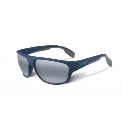 Gafas de sol Vuarnet VL1402 Racing Large Blue Polarlynx - Azul Soft Touch / Gris (0006 - 0636)