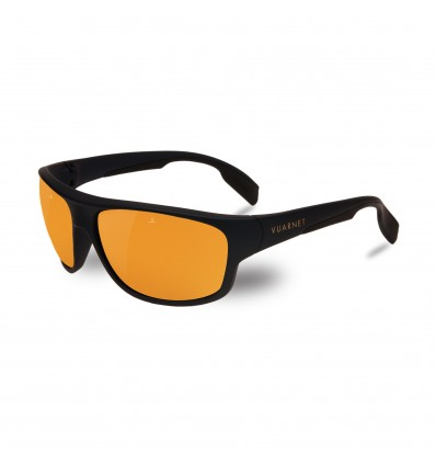 Gafas de sol Vuarnet VL1402 Racing Large Pure Brown Gold Flash - Azul Metalizado Mate / Negro (0019 - 2124)