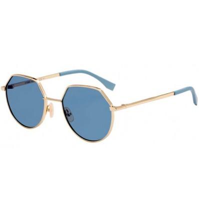 Gafas de sol Fendi FF M0029S Gold - Blue Mirror (J5G-2Y)