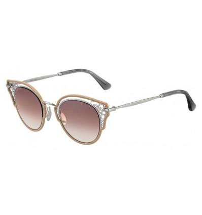Gafas de sol JIMMY CHOO DHELIA Nude Palladium - Brown Gradient Silver Mirror (9FZ-NQ)