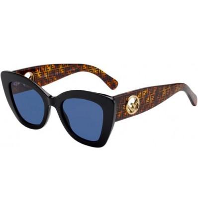 Gafas de sol Fendi FF 0327S Black - Blue Grey (807-KU)