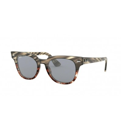 Ulleres de sol RAY BAN Meteor RB2168 Grey Gradient Brown Striped - Blue Mirror Gold Blue (1254Y5)