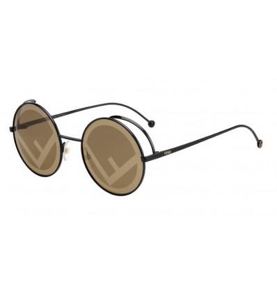 Gafas de sol Fendi FF0343S Black - Gold Brown Mirror (807-EB)