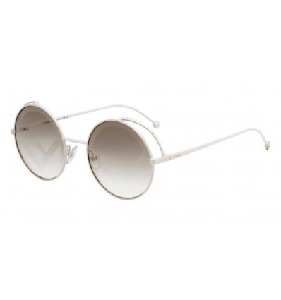 Gafas de sol Fendi FF0343S White - Brown Decorated (VK6-EB)