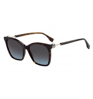 Gafas de sol Fendi FF0344S Dark Havana - Grey Sfumato (086-1I)