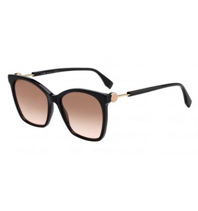 Gafas de sol Fendi FF0344S Black - Brown Pink Sfumato (807-M2)