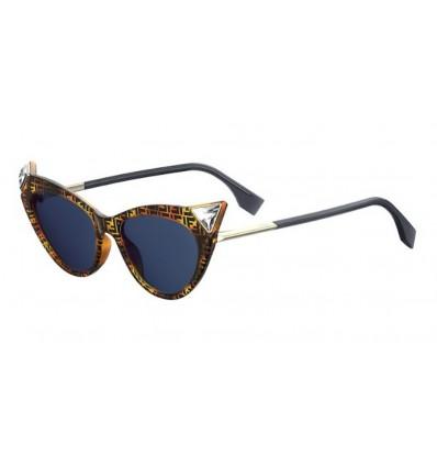 Gafas de sol Fendi FF0356S Dark Havana - Blue Avio (086-KU)