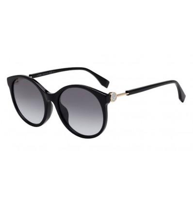 Gafas de sol Fendi FF0362S Black - Grey Azure (807-GB)