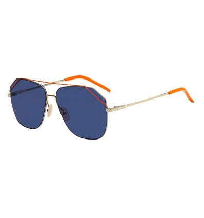 Ulleres de sol Fendi FFM0043S Light Gold - Blue Avio (3YG-KU)