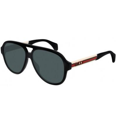 Gafas de Sol GUCCI GG0463S Black White - Grey Polarized (002)