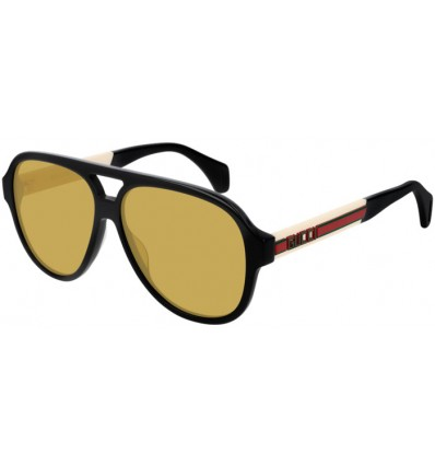 Gafas de Sol GUCCI GG0463S Black White - Yellow (001)