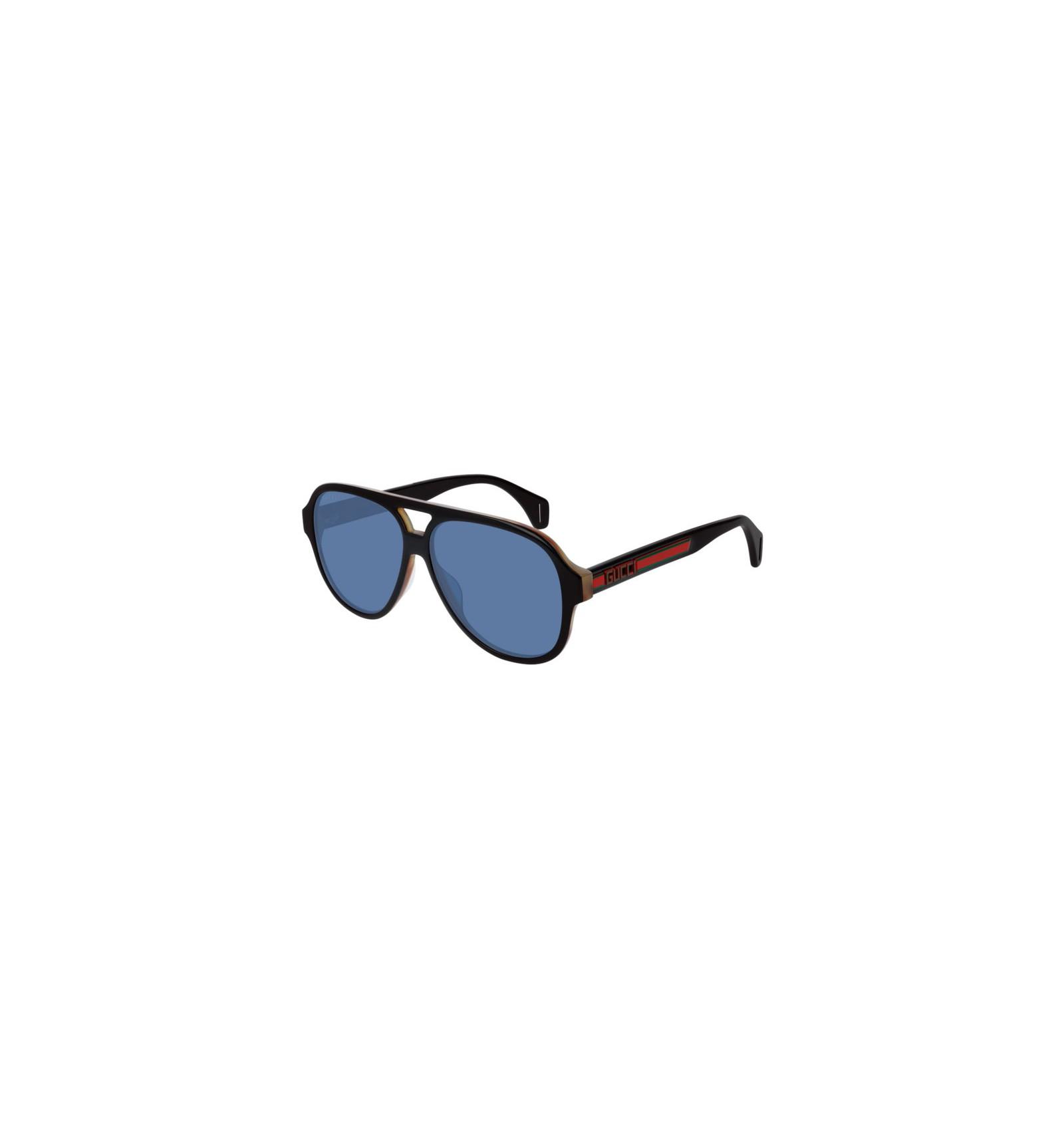3bcc2fc2df Nuevo 2019 Nuevo Gafas de Sol GUCCI GG0463S Black - Blue (004)
