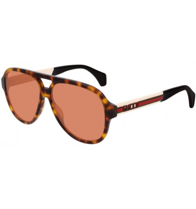 Ulleres de Sol GUCCI GG0463S Light Havana Ivory - Orange (006)
