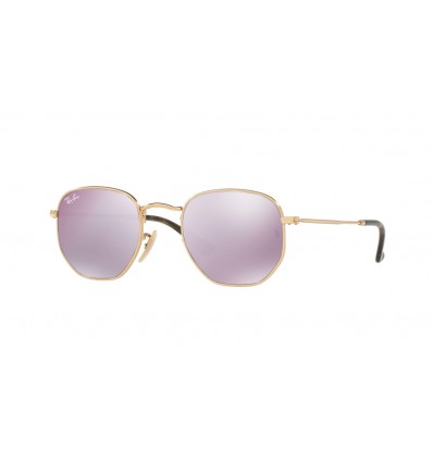 Ulleres de sol Ray Ban Hexagonal Evolve RB3548N 001-8O Gold - Wisteria Flash