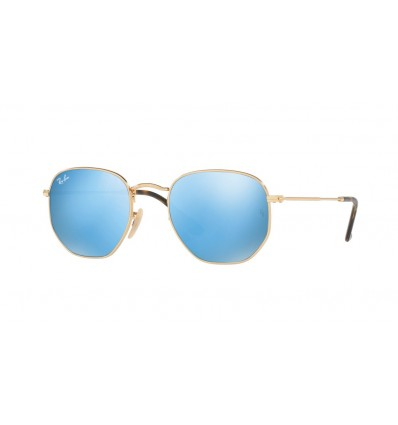 Ulleres de sol Ray Ban Hexagonal Evolve RB3548N 001-9O Gold - Light Blue Flash