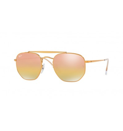 Gafas de sol Ray Ban Marshal RB3648 9001I1 Light Bronze - Green Mirror Gold