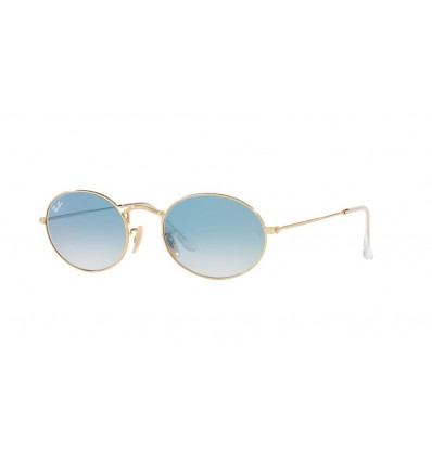 Ulleres de sol Ray Ban Oval RB3547N Arista - Crystal White Grad. Blue (001 3F)
