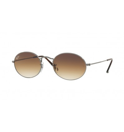 Ulleres de sol Ray Ban Oval RB3547N Black Gunmetal - Crystal Brown Gradient (004-51)