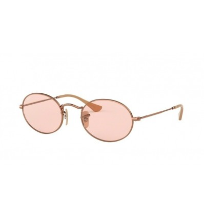 Gafas de sol Ray Ban Oval RB3547N Copper Bronce - Evolve Light Pink (91310X)