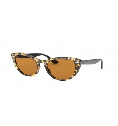 Gafas de sol Ray Ban Nina RB4314N Havana Gialla - Yellow Mirror Gold (12483L)