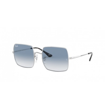 Ulleres de sol Ray Ban Square RB1971 Silver - Clean Gradient Blue (91493F)