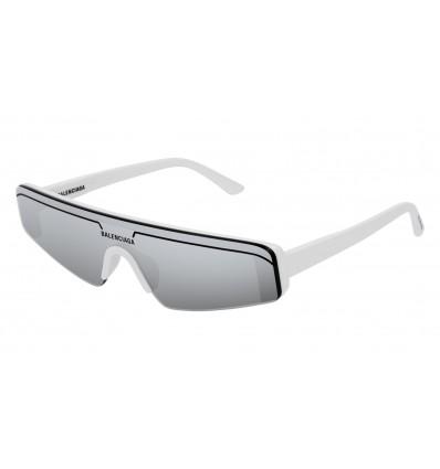 Gafas de sol Balenciaga BB0003S Blanco Plata - Plata (002)